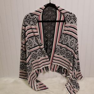 Roxy Girl Open Front Cardigan with Tassels